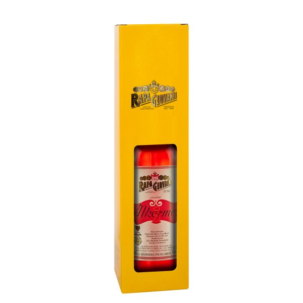 Bottiglia di Alkernes nella scatola regalo
