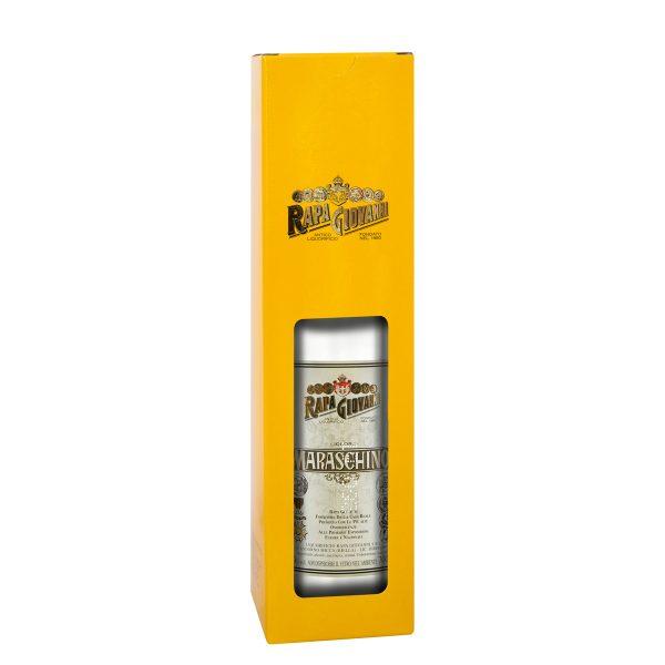 Bottiglia di Maraschino nella scatola regalo