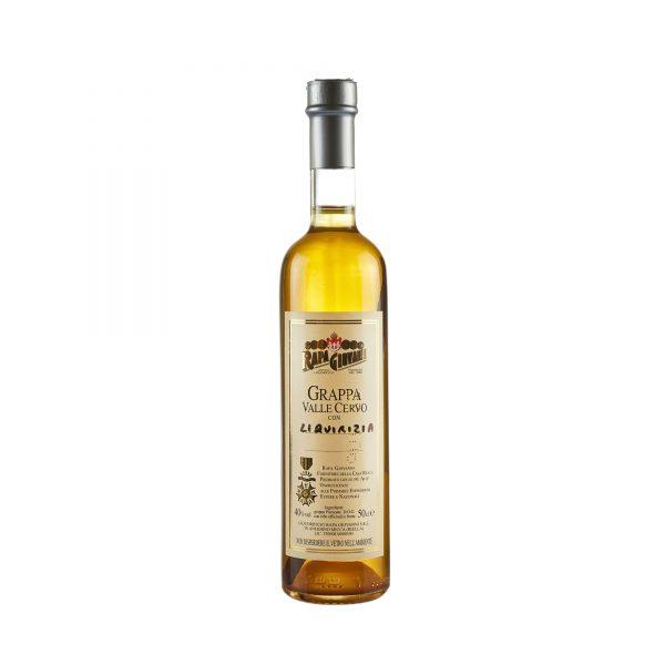 Bottiglia di Grappa Valle Cervo alla Liquirizia