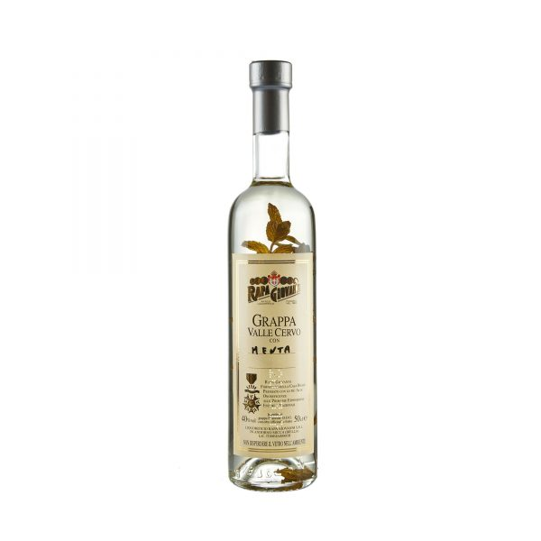 Bottiglia di Grappa Valle Cervo alla Menta