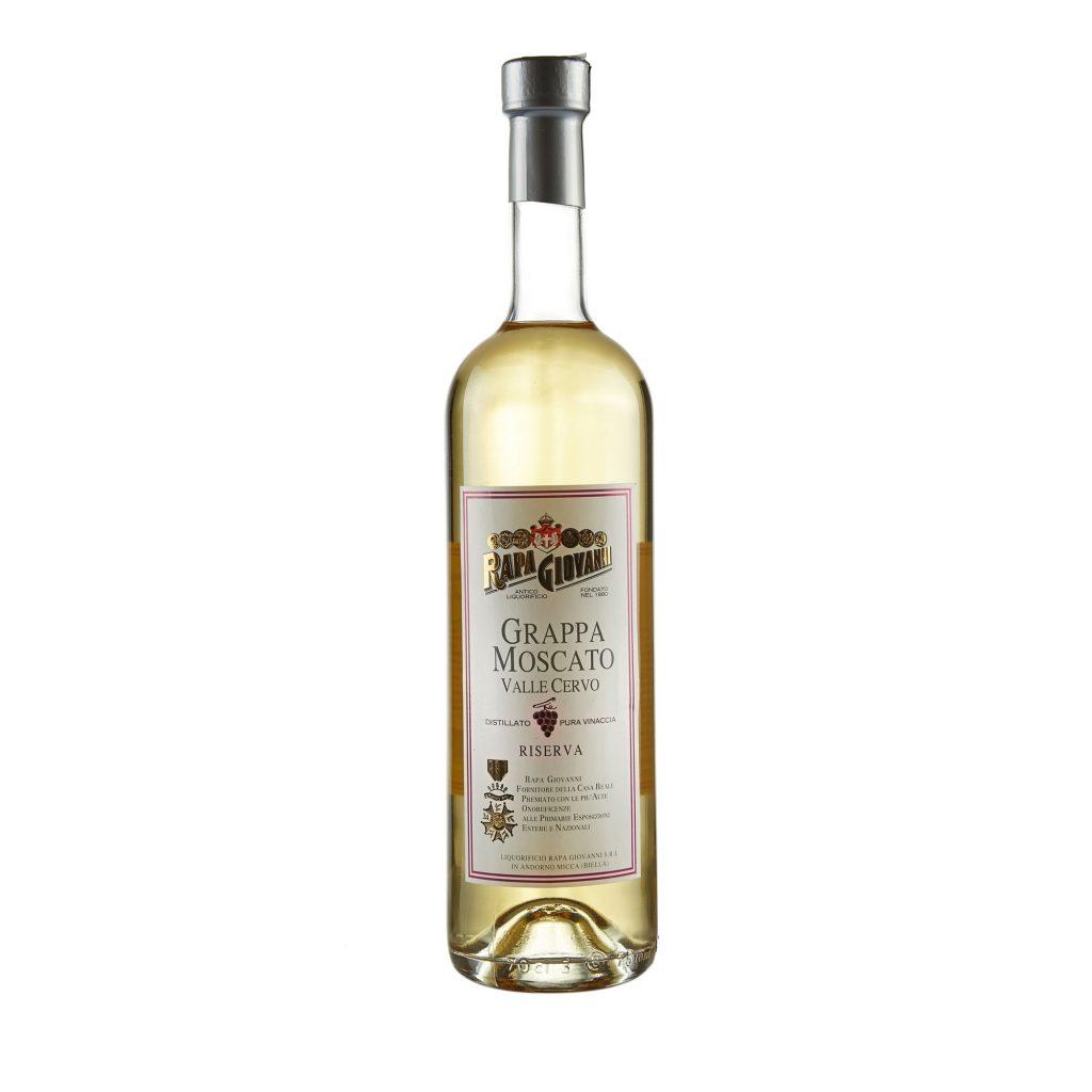 Bottiglia di Grappa Moscato Riserva Valle Cervo