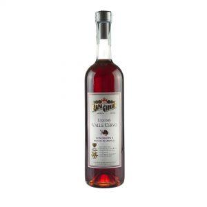 Bottiglia di Liquore Valle Cervo con grappa e succo di mirtilli